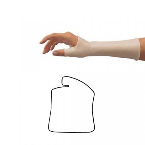 Σχηματικά Προετοιμασμένα Κομμάτια Θερμοπλαστικού για Κατασκευή Νάρθηκα Αντίχειρα με Δέσιμο στον Πήχη - Orfit Classic