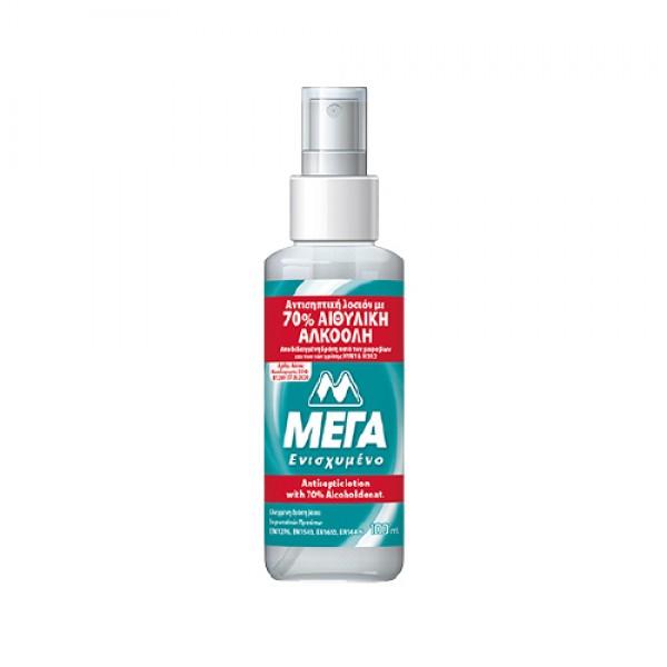 Αντιβακτηριδιακή λοσιόν για τα χέρια με 70% αλκοόλη 100 ml (Spray)