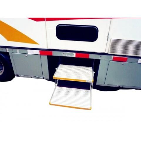 Διπλό χειροκίνητο αναδιπλούμενο σκαλοπάτι για οχήματα