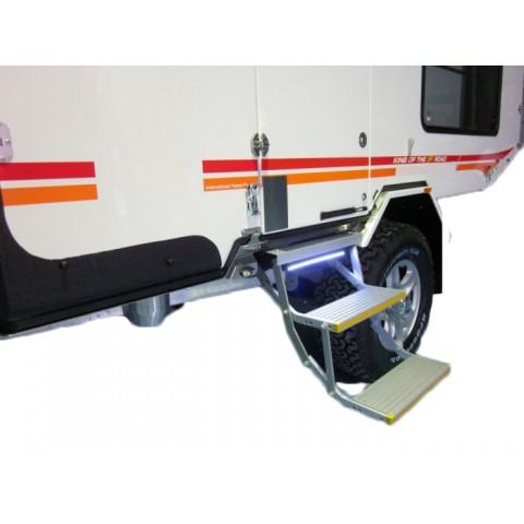 Διπλό ηλεκτρικό αναδιπλούμενο σκαλοπάτι για οχήματα