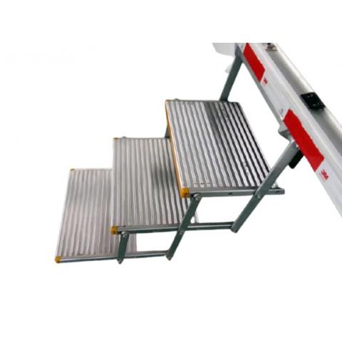 Τριπλό χειροκίνητο αναδιπλούμενο σκαλοπάτι για οχήματα