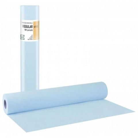 Εξεταστικό χάρτινο δίφυλλο ρολό γαλάζιο (12 τεμάχια)