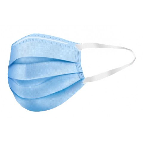 Χειρουργικές μάσκες μίας χρήσεως με υφασμάτινα ελαστικά Χρήσης Τύπου I ΕΝ 14683(5 τμχ.)