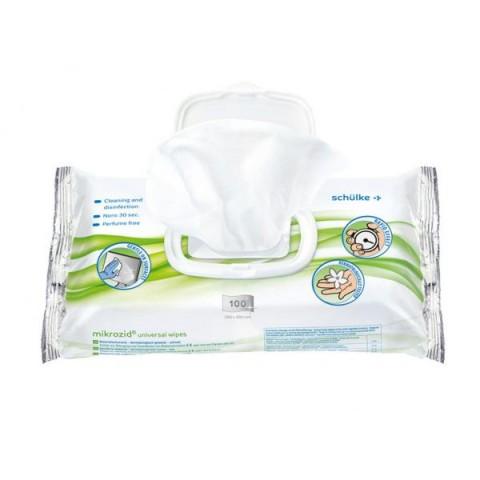 Μαντηλάκια για ταχεία απολύμανση και καθαρισμό όλων των τύπων επιφανειών Microzid 100 τεμ.