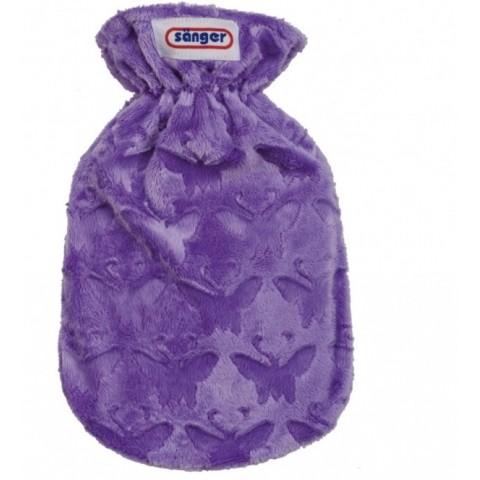 Θερμοφόρα Νερού Παιδική Με Κάλυμμα Fleece Πεταλούδα 0,8Lit Sanger