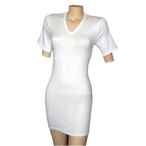 Κοντομάνικη μπλούζα με V λαιμόκοψη για Κορμικούς Κηδεμόνες