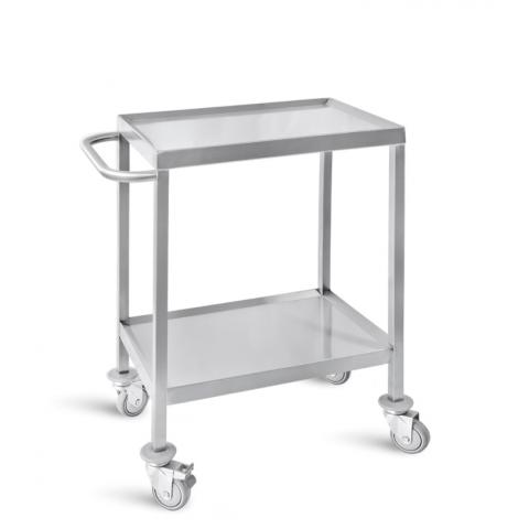 Τροχήλατο τραπεζάκι χειρουργείου από ανοξείδωτο ατσάλι – INOX 304