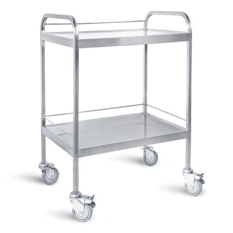 Τροχήλατο τραπεζάκι νοσηλείας από ανοξείδωτο ατσάλι – INOX 304