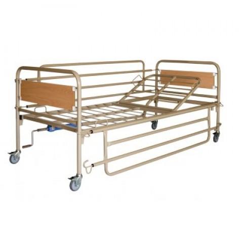 Κρεβάτι πολύσπαστο με ξύλινες μετώπες με ρόδες