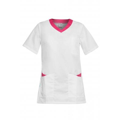 Ρούχα Εργασίας PAOLA Λευκό /Φούξια